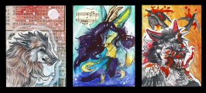 ACEO Trades by wolffoxin