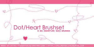 Dot-Heart Brushset by FooWater