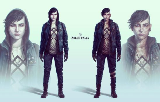 Ashen Falls -  Lucy 'Haze' Williams by Gillesketting