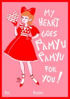 Pamyu Pamyu valentine by Cheeky-Bee