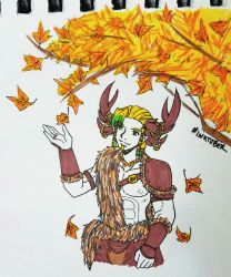 INKTOBER 2017 - Day 29 - Fall by zoro4me3
