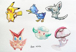 Watercolor Pokemon