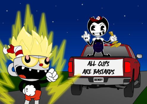 Driving Cuphead 'Round the Bend by CreatureFeatureChaos