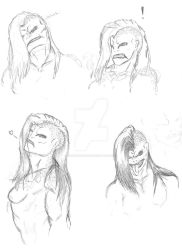 Number 73 Expressions WIP by DasTierLockjaw