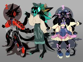 [CLOSED] SUPERDARK CREATURE ADOPT PILE 1 by fleshcell