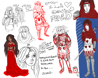 Elaine and Fred Doodles by lonevision