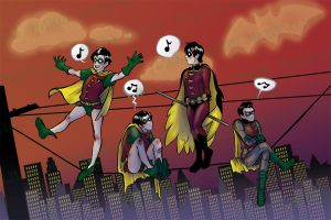 Robins on a Wire by bluegirlwish