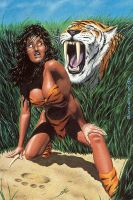 jungle babe limited print by artguyNJ