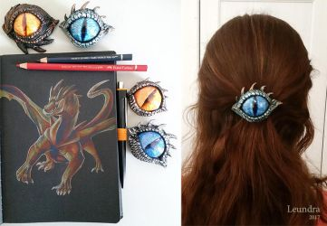 Dragon eyes and polychromos picture by Leundra