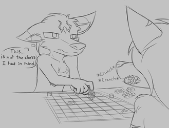 Improvised Chess by W0lfmare