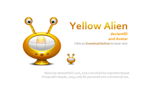 Yellow Alien deviantID+ Avatar by HYDRATTZ