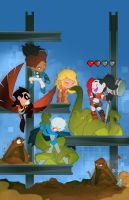 Teen Titans cover by cheeks-74