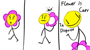 bfdi Flower is Cary by PinkiesClone