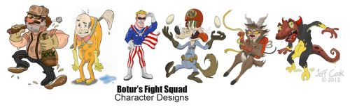 Fight Squad Character Designs by JeffereyCook