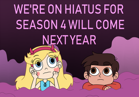 Star and Marco are on hiatus to SVTFOE Season 4 by Deaf-Machbot