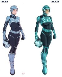 Tron girl New vs Old by Deimos-Remus