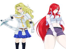 First Easter Raffle Winner: Erza and Mai Crossover by AlphaDeltaZeta
