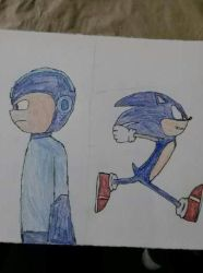 Mega Man and Sonic by rywilliam91