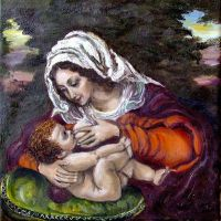 Nursing Heavenly Mother by JoannaPartyka