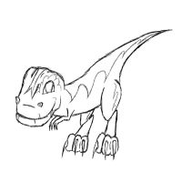 Chibi T-Rex [Requested by TX_Wrangler_jr_R] by Fuzzyfire17