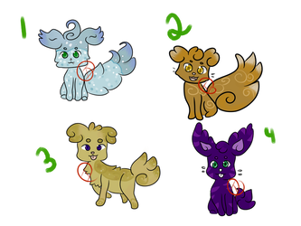 Adoptables (4/4) *Updated* (Open) by Wolvezsong