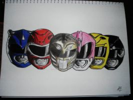 Mighty Morphin Power Rangers by ChegaDeSuede