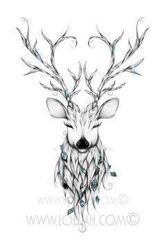 Poetic Deer by LouJah