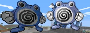 Poliwhirl - Minecraft Art