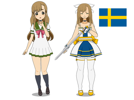 Sweden | International magical girl challenge by PetalGhost