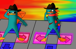 DDR Perry VS Taylor by GrovyleFangirl1997