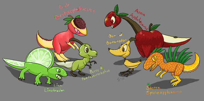 Fruity Dinos (W.I.P) by Electric-Mongoose