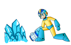 Mega Man Ice Wave (MM11 Redesign) by SnowmanEX711