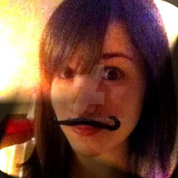 Yet Another NEW dA ID! XD mustache xD by CookieBeef