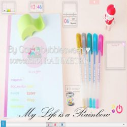 Rainmeter My Life is a Rainbow by candybubblesweety