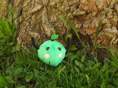 Green junimo plushie by WhimsicalSquidCo