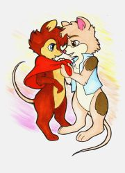 Mr. and Mrs. Brisby by griffon-rider-Ann