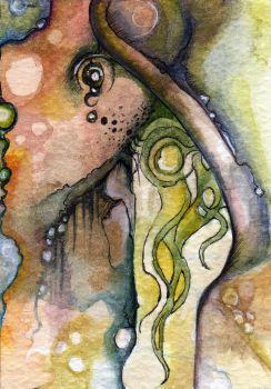 Watercolor Abstract ACEO by glait