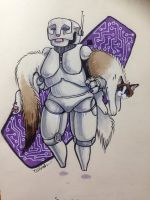 Gynoid Cat Carrier by melanippos