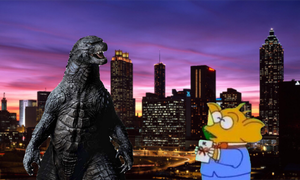 Godzilla 2014 and little baragon by Professorfish