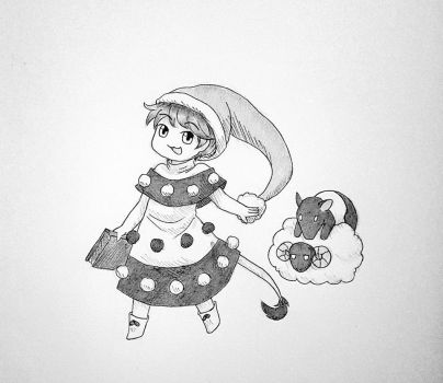 Doremy Sweet ... with a tapir ... and with a sheep by lNiyu