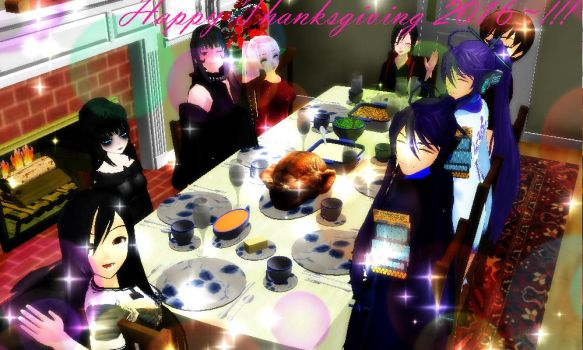 MMD - Happy Thanksgiving 2016~!!! by Sheila-Sama-15