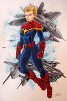 Captain Marvel by KidNotorious