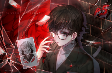[COLLAB] Persona 5 Akira (+Speedpaint...kind of) by TheCecile
