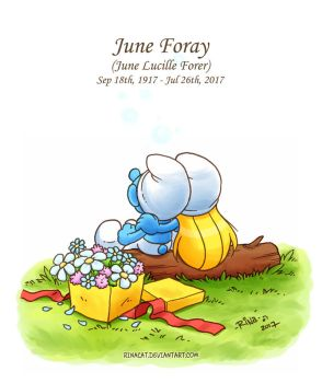 Smurfs: June Foray by rinacat
