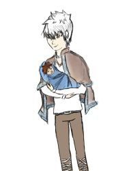 Jack Holding Hiccup as a Babe by FormyHijackArt