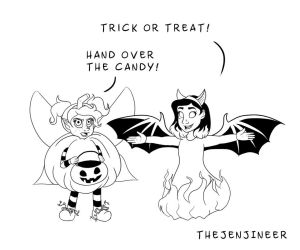 Trick or Treat or Else by TheJenjineer