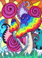 It's Mushroomed ACEO by PeriwinklePaisley