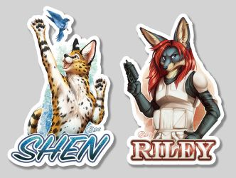 Mid 2018 Polished Half Body Badges by GoldenDruid