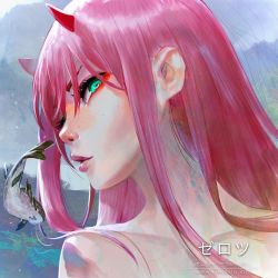 Zero Two + Fish - Portrait Study by fantasio