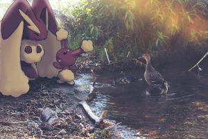 Wild Lopunny and Buneary with
